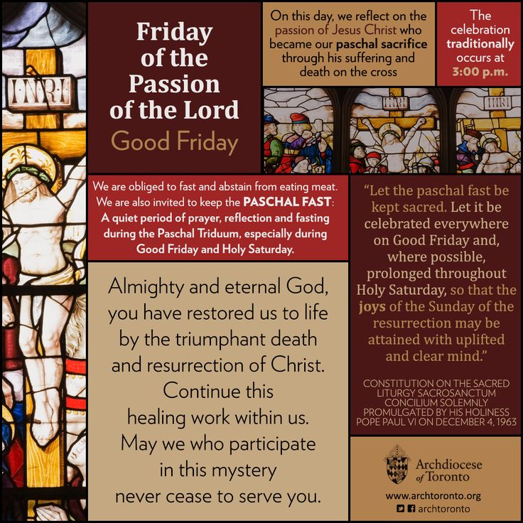 Friday of the Passion of the Lord - Good Friday #GoodFriday #infographic…