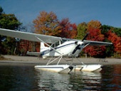 C180 C-GYZK beached on Parry Island in the Fall