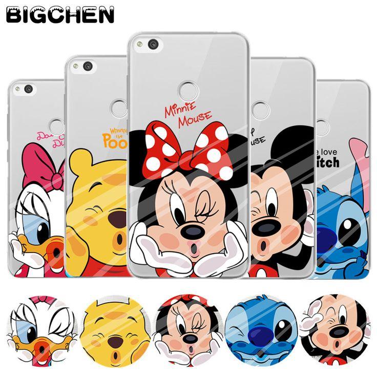 For P8 lite 2017 case Cute Minnie Soft TPU back cover for fundas Huawei P8 lite case 2017 new arrivals coque for Honor 8 Lite