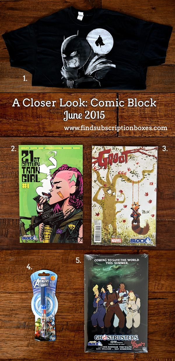 Read our full Comic Block June 2015 Box Review to learn about the comic books & other items in June's comic subscription box: http://www.findsubscriptionboxes.com/a-closer-look/comic-block-june-2015-box-review-072015/