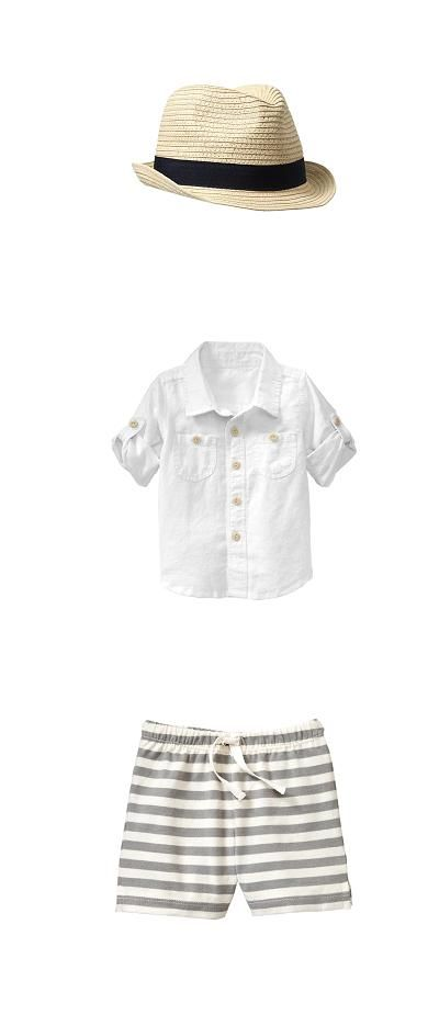 The perfect outfit for you little guy's pool days. #SummerFashion #BoysFashion