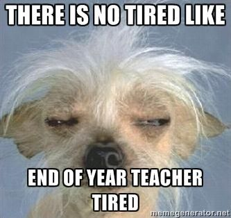 Image result for no tired like teacher tired