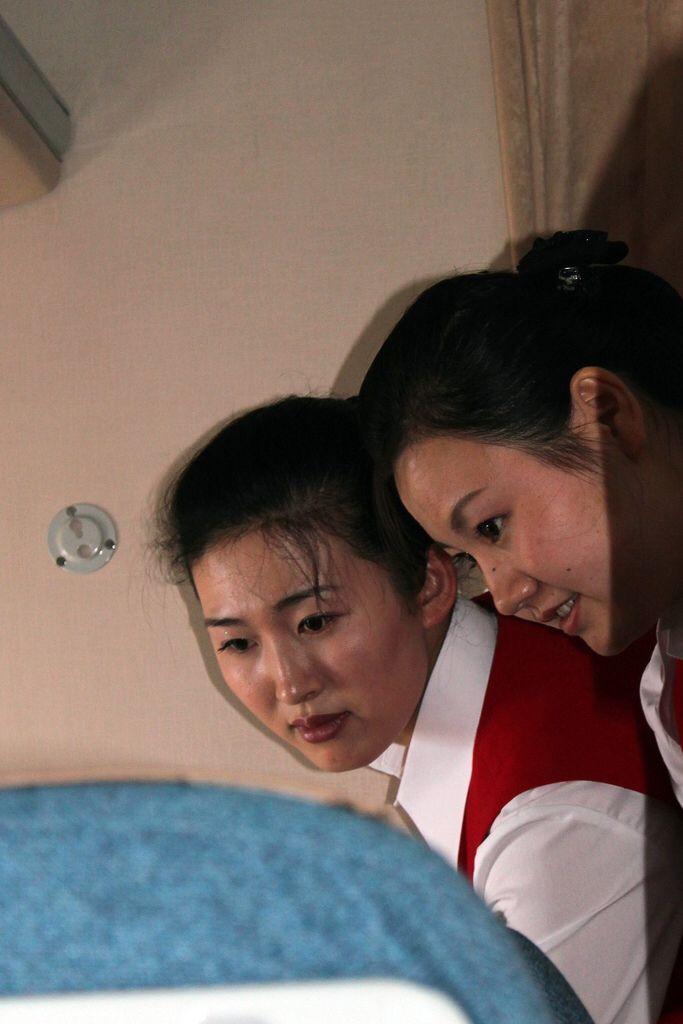 Stewardesses on Air Koryo North Korean Airlines
