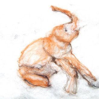 elephant. Hand felted, Emma Allott.
