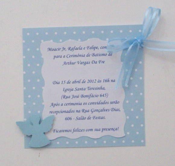 Convite Para Batizado - Anjinho Menino