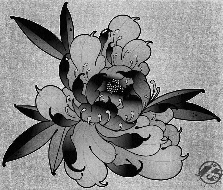 Flower tattoo design.