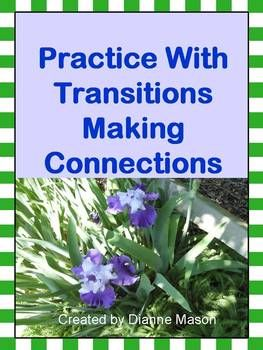 """$2.50 This mini-lesson answers the question """"What is transition?"""" It discusses the importance of transitional words in connecting units of thought and as signals to the reader. A tool that enables students to create strong, cohesive writing as required by Common Core, the Power Point presentation outlines 10 categories of transitional words and gives word lists for each category along with the function of each category."""