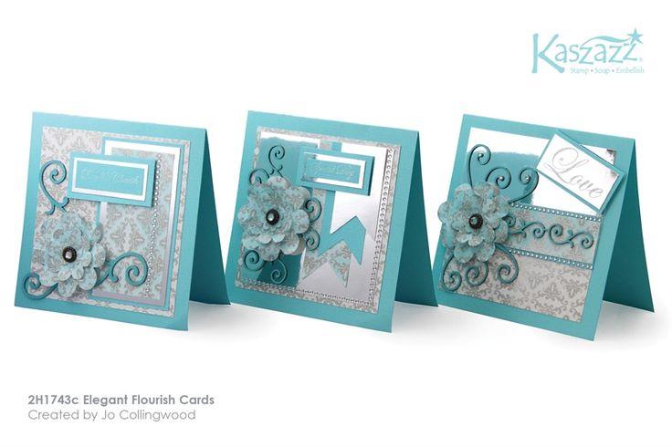 2H1743c Elegant Flourish Cards