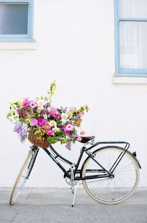 bicyclette fleurie