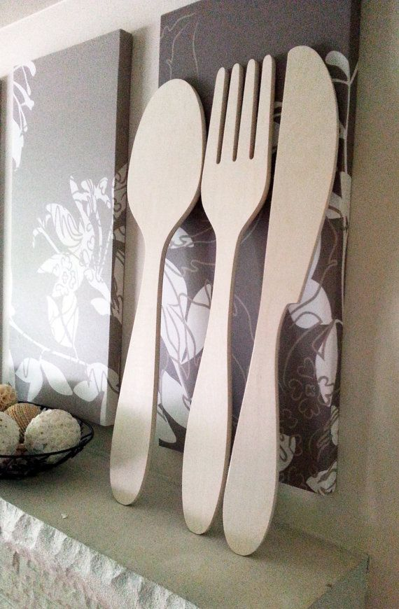 Wooden Utensil Wall Decor : Best knife fork spoon wall art images on