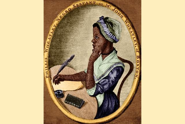 Learn About Phillis Wheatley, the Slave Poet of Colonial America: Phillis Wheatley, from an illustration by Scipio Moorhead on the front page of her book of poems (colorized later)