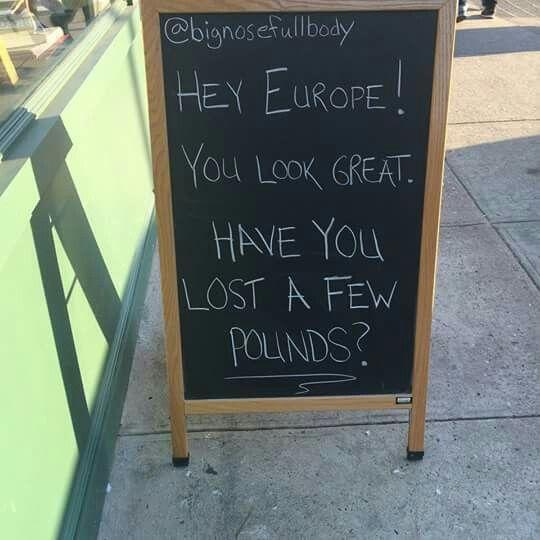 Hey Europa! Estás estupenda...