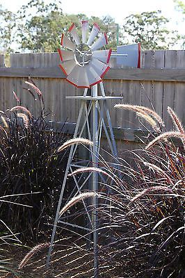 GARDEN WINDMILL 1800MM 6FT NEW ORNAMENTAL OUTDOOR DECORATIVE METAL REPLICA