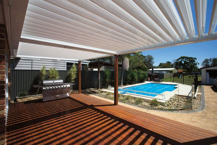 Take control over the elements with a Stratco Sunroof Patio! Adjustable louvres let the light in or stop the rain! With automatic rain sensors to close the louvres when rain is detected there isnt a much more luxurious outdoor entertaining option than this! sunroof patio flat roof, sunroof patio gable roof. Luxury patio, rain sensing patio, luxury outdoor patio. www.hats4houses.com.au