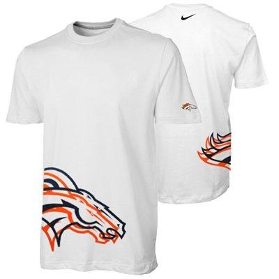 Nike Denver Broncos Logo Stack Premium T-Shirt - White   @Fanatics  #FanaticsWishlist