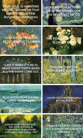 Lana Del Rey + Van Gogh #LDR #lyrics