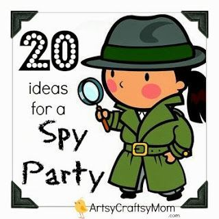 Birthday Party Themes - A Spy Agent Party for an 8 year old.. - Artsy Craftsy Mom