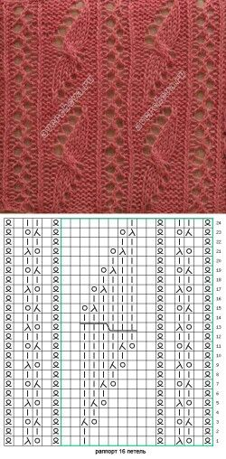 Lace knit cross over pattern