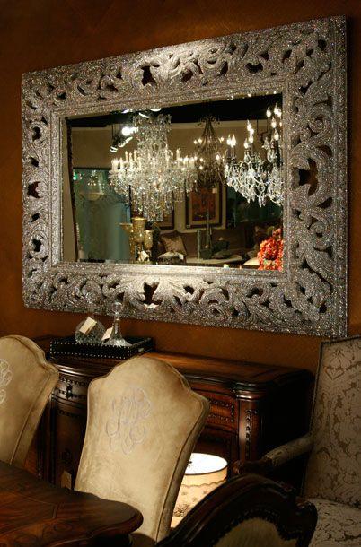 Clear Swarovski Crystal Extra Large Mirror