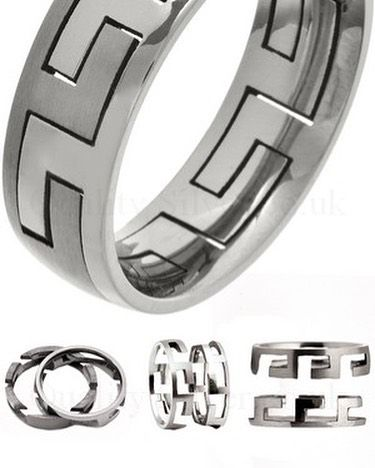 How  about a #titanium #puzzle #ring ? So popular  ideal #gift #birthday #anniversary #engagement #treatyourself #treathimright #jewellery #friday