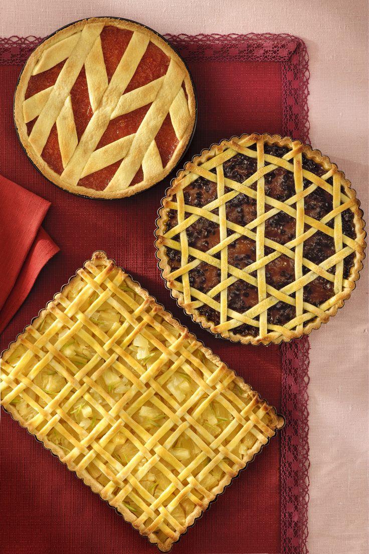 Prova a decorare le tue crostate con i dolcissimi e giocosi intrecci della trama…
