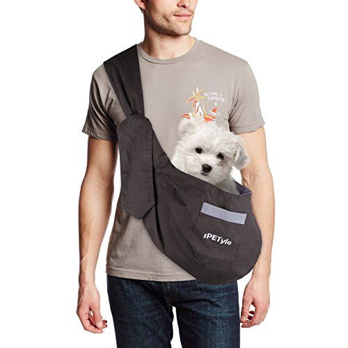 From 18.99 Spetyle Hands Free Reversible Pet Bag Sling Carrier With Adjustable Strap For Small Dogs Pooch Puppies Cats Rabbits (l(3kg-7.5kg) Brown/grey)