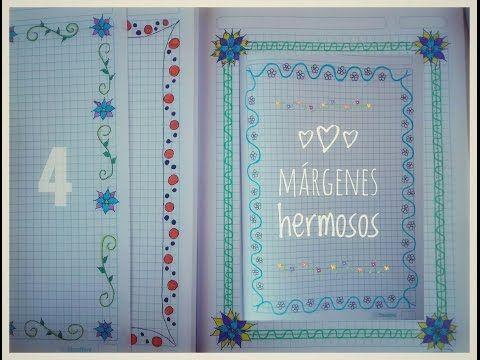 Los márgenes/Bordes mas preciosos para tu cuaderno - Shesira StarChic - YouTube