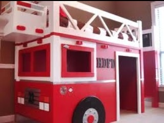 Free DYI plans at http://ana-white.com/2012/03/plans/fire-truck-loft-bed