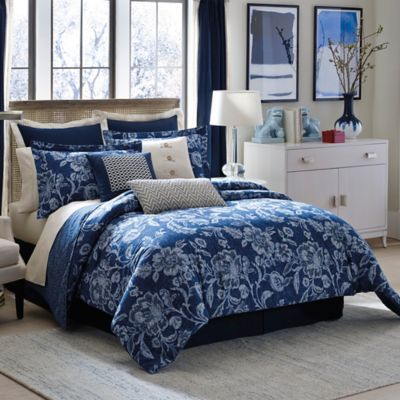 Buy Inspired By Kravet Aida Queen Comforter Set In Indigo