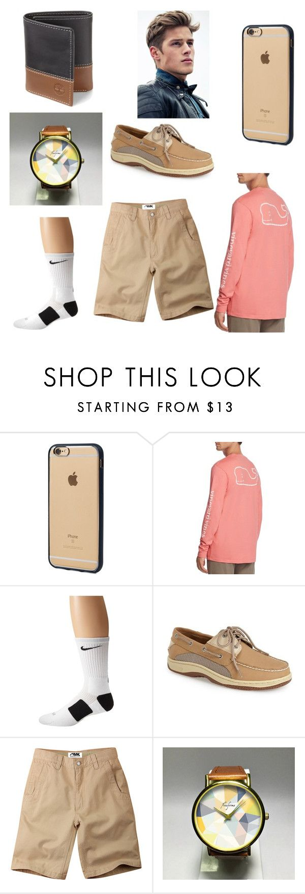 """Untitled #17"" by logane08 ❤ liked on Polyvore featuring Incase, Vineyard Vines, NIKE, Sperry, Mountain Khakis, Timberland, men's fashion and menswear"