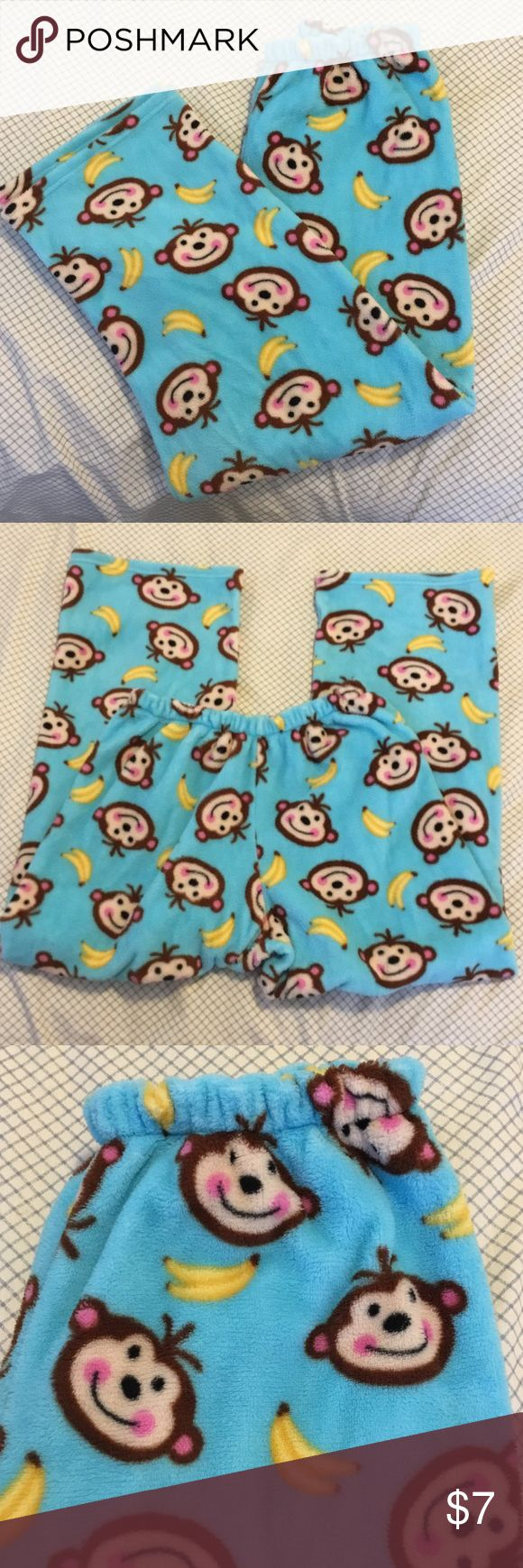 NEW LISTING. NEW Directions PJ bottom. New Directions pj bottom in excellent condition. Pretty colors of light blue with yellow bananas and monkey faces. Really cute. Wore once but too warm for me. New Directions Intimates & Sleepwear Pajamas