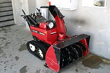 Snow blower/ snow thrower - a machine for removing snow from an area where it is not wanted. Use a high-speed impeller to move the snow into the machine and force it out of the discharge chute