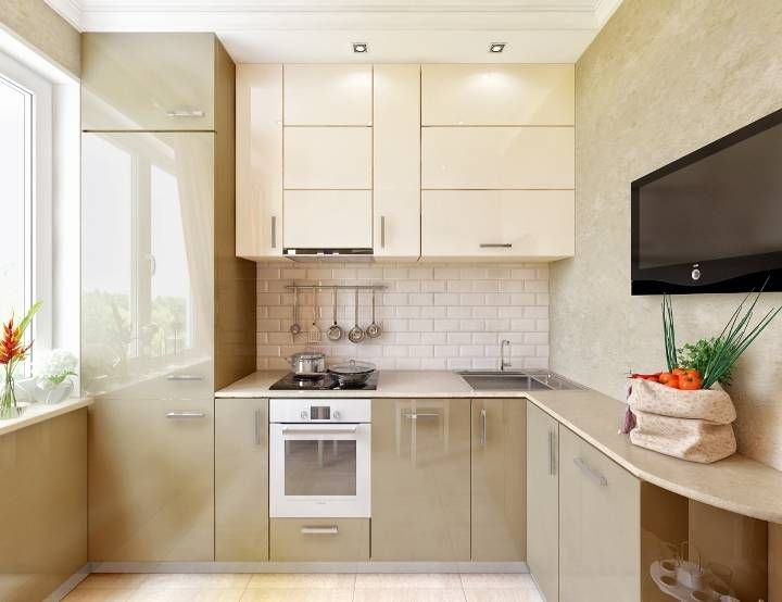 Интерьер кухни 9 кв. м в стиле минимализм