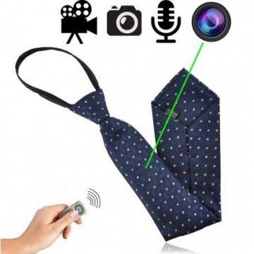 Getarnte Videokamera in Krawatte für diskrete Videoüberwachung und Observation