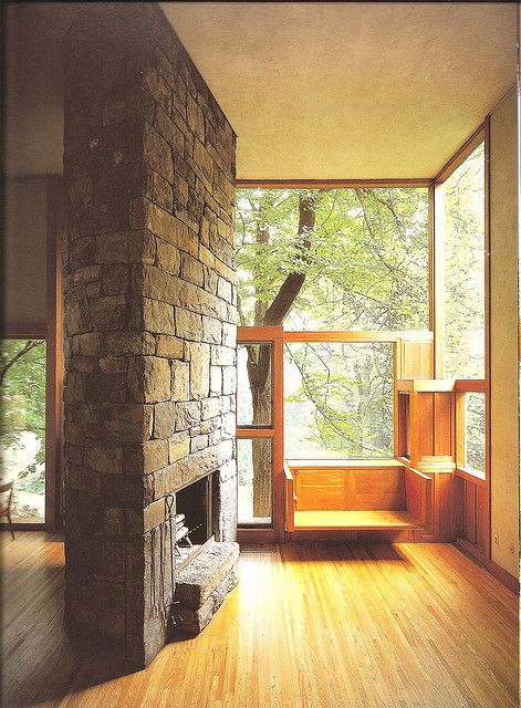 mid century modern Fisher House by Louis Kahn