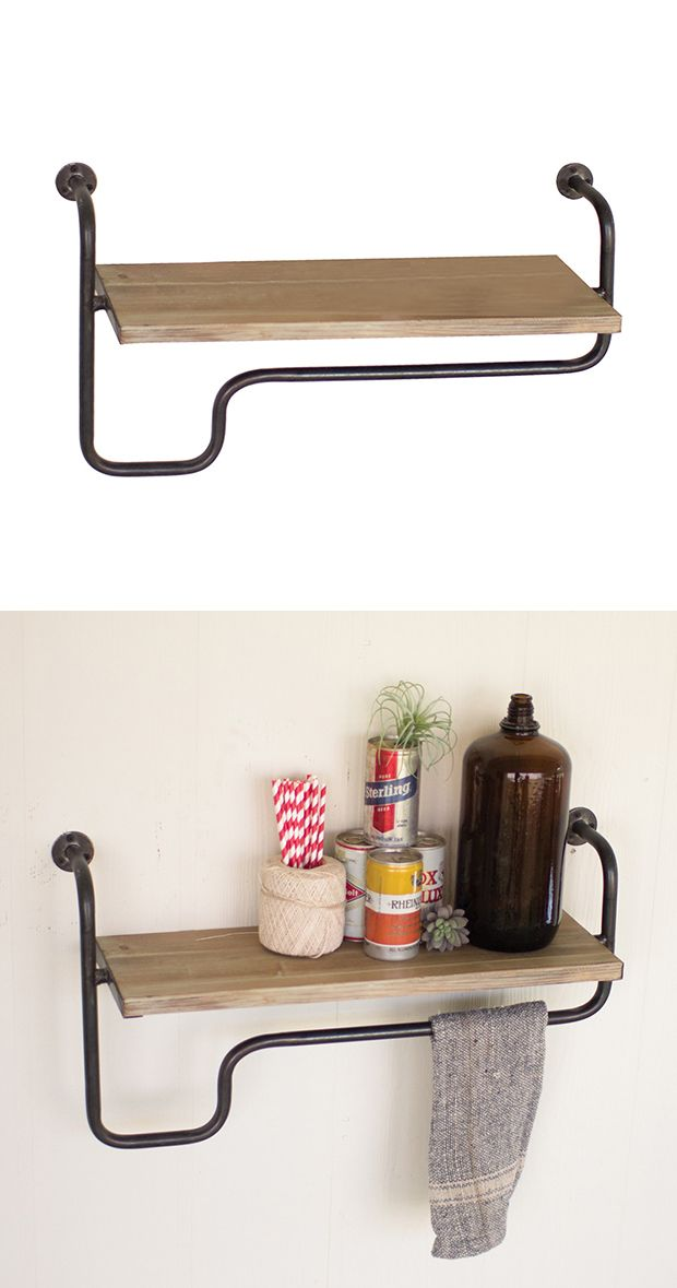 Add some extra storage space to your modern kitchen or bathroom with this charming wall shelf. The Camden Wall Shelf features a spacious single ledge and convenient lower towel bar that'll comfortably ...  Find the Camden Wall Shelf, as seen in the  #LongitudesOfStyle  Collection at http://dotandbo.com/collections/longitudesofstyle?utm_source=pinterest&utm_medium=organic&db_sku=113781