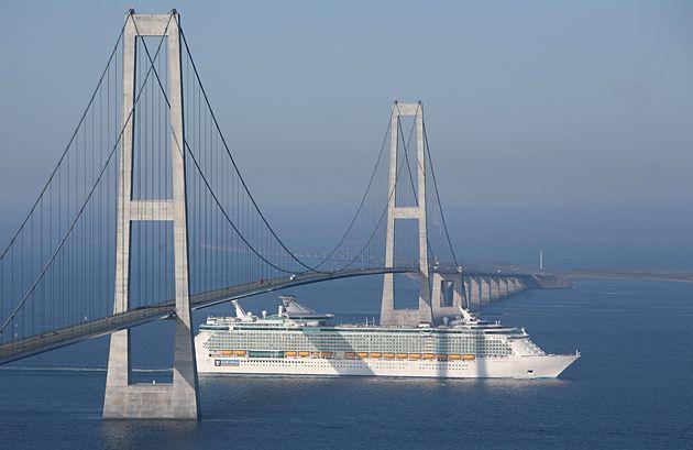 2 July & 15 July 2014 - Storebaelt Bridge (Denmark) - driving over this 18 km long bridge is so awesome!