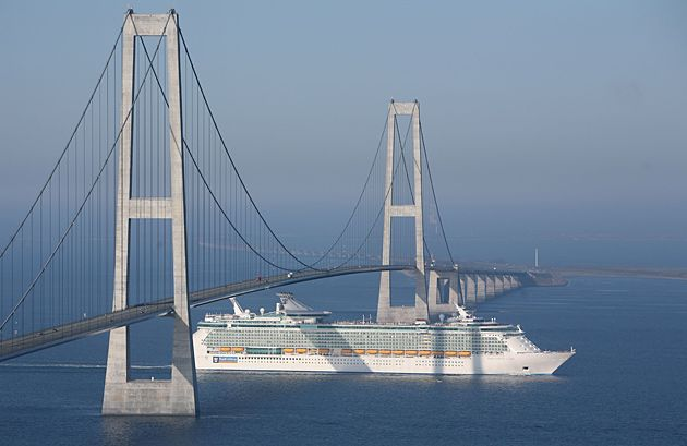 2 July & 15 July 2014 - Storebaelt Bridge (Denmark) - driving over this 18 km long bridge is so awesome!