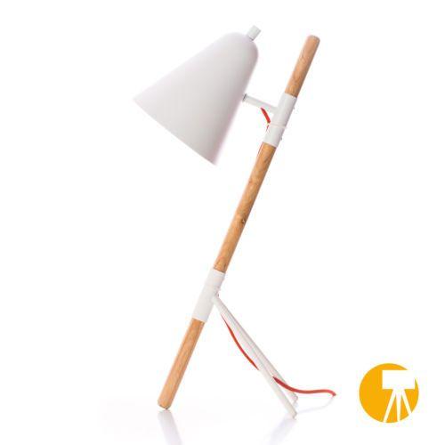 Design-Tischleuchte-Tischlampe-Leselampe-Leseleuchte-Holz-Buero-Leuchte-Weiss