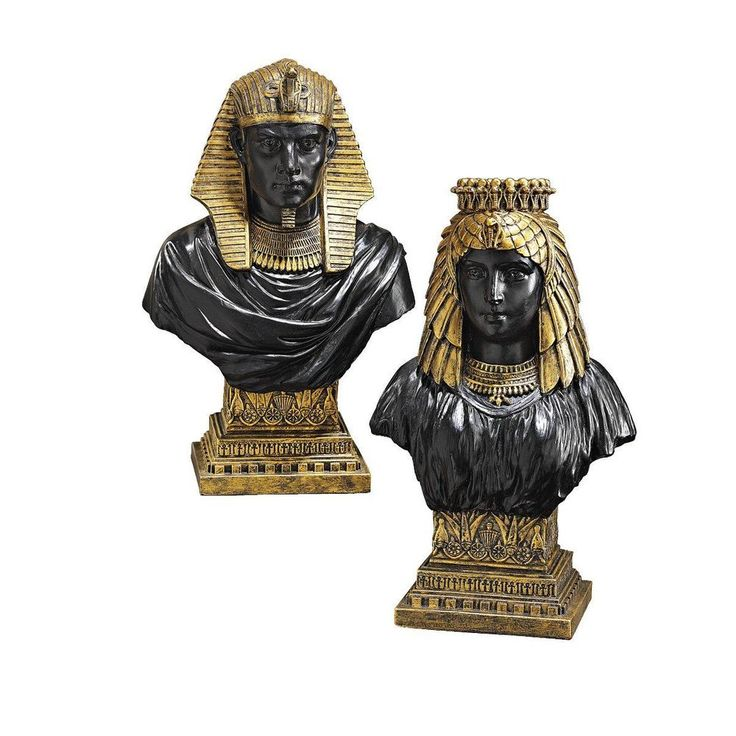 Egyptian Figurine God Statue King Rameses II And Queen Nefertari Set Home Decor