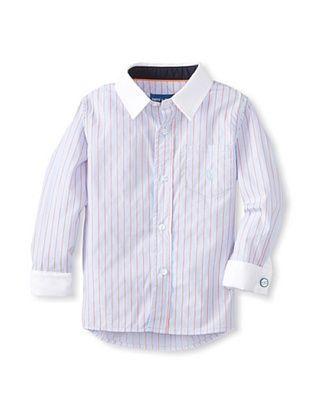 63% OFF Andy & Evan Boy's 2-7 Necessary Cuffness Big Boy Button-Up (Orange)