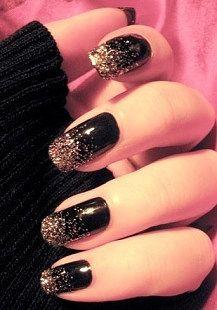 Glam Night Black | Nail Designs
