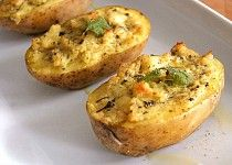 Plněné brambory s bylinkami (vegan)
