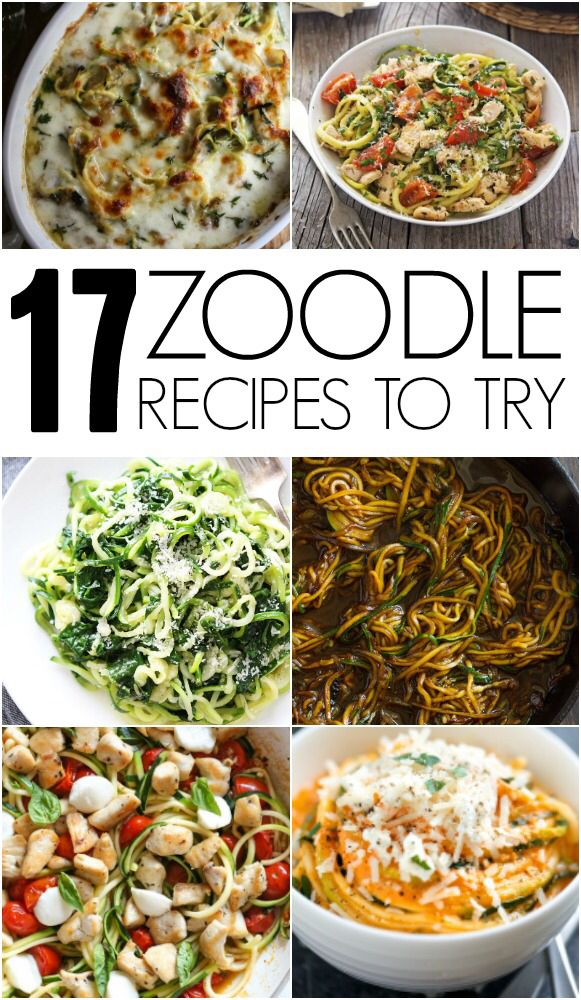 17 Zoodle (Zucchini Noodle) Recipes To Try This Fall on Six Sisters' Stuff