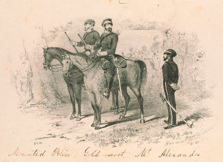 Victorian Police Cadets in the 1850s