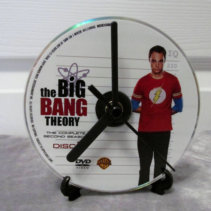 Big Bang Theory DVD Clock Upcycled TV Show - Sheldon by DarkStormTV on Etsy