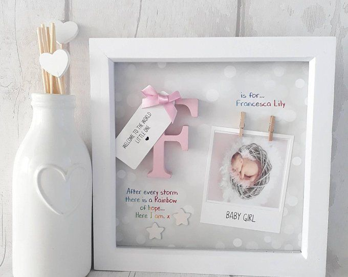 personalized newborn gift baby girl frames-Baby Girl Gift Sugar and Spice and everything nice-New baby Picture frame-New baby girl gift