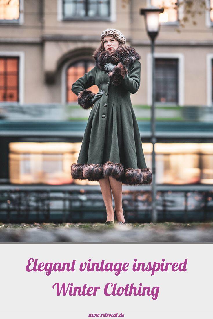 Elegante Winterkleidung im Vintage-Stil: Retro-Mäntel ...