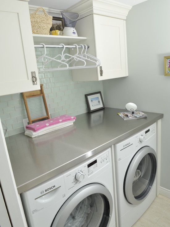 Laundry room counter tops home ideas pinterest laundry room counter laundry room design - Washer dryers for small spaces ideas ...