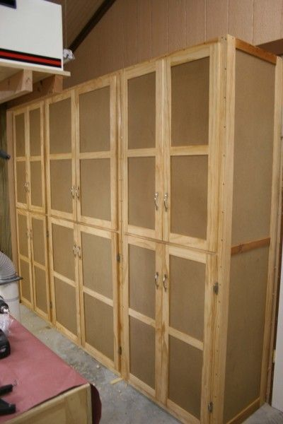 Storage Cabinets. This is what I envision on the wall of cabinets in the butler's pantry but floor to ceiling and painted white. It will be for food storage from canned goods to bags of chips as well as trash bags, paper towels etc.